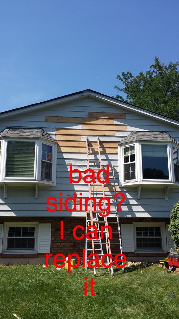 Replacing rotten siding